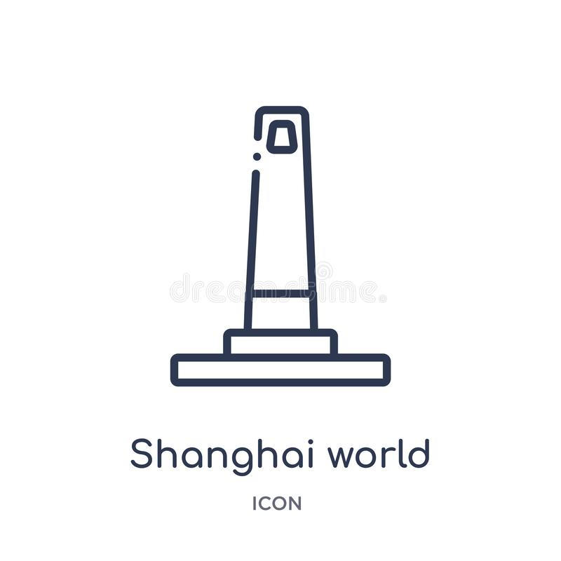 shanghai world financial center icon from monuments outline collection. Thin line shanghai world financial center icon isolated on royalty free illustration