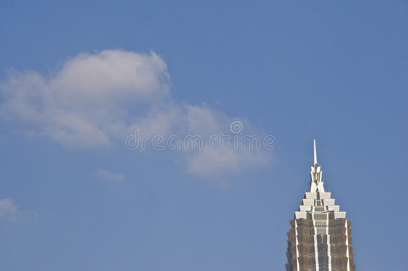 SHANGHAI WORLD FINANCIAL CENTER AND JINMAO TOWER. China's tallest buildings World Financial Center and Jinmao Tower stock photos