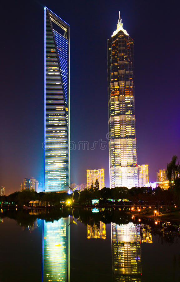 Shanghai World Financial Center And Jinmao Tower Stock Image