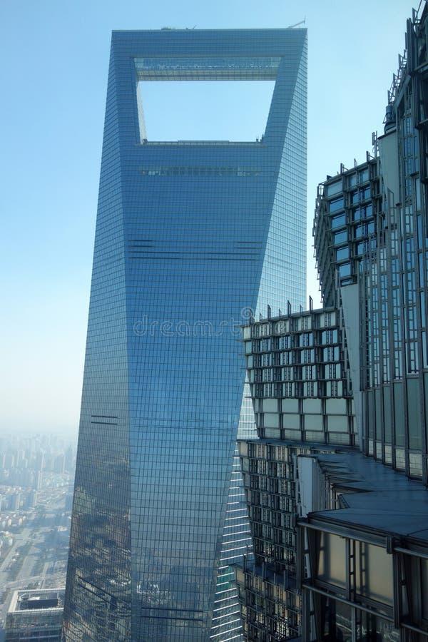 Shanghai world financial center and jinmao tower. Lujiazui,Pudong, Shanghai, China royalty free stock photo