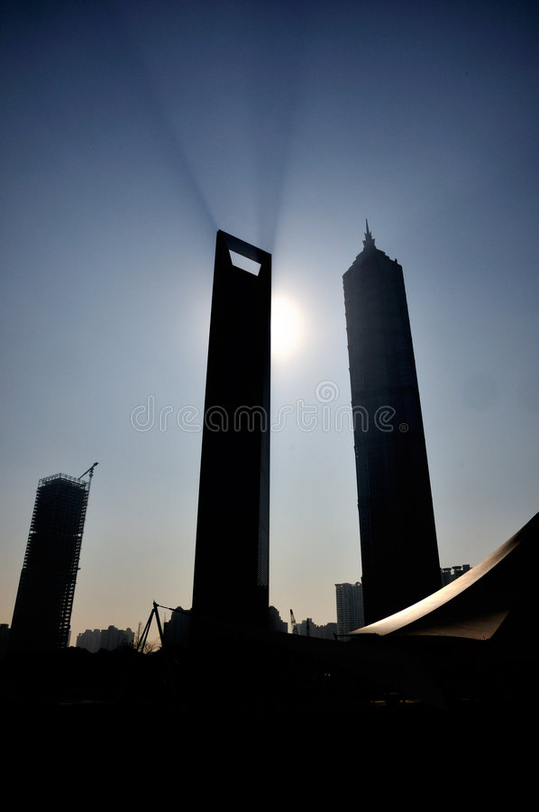 Download Shanghai World Financial Center And Jinmao Tower Stock Photo - Image: 8280880