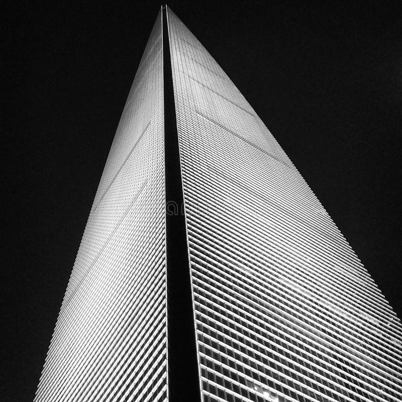 Shanghai World Financial Center. The night view of Shanghai World Financial Center royalty free stock image