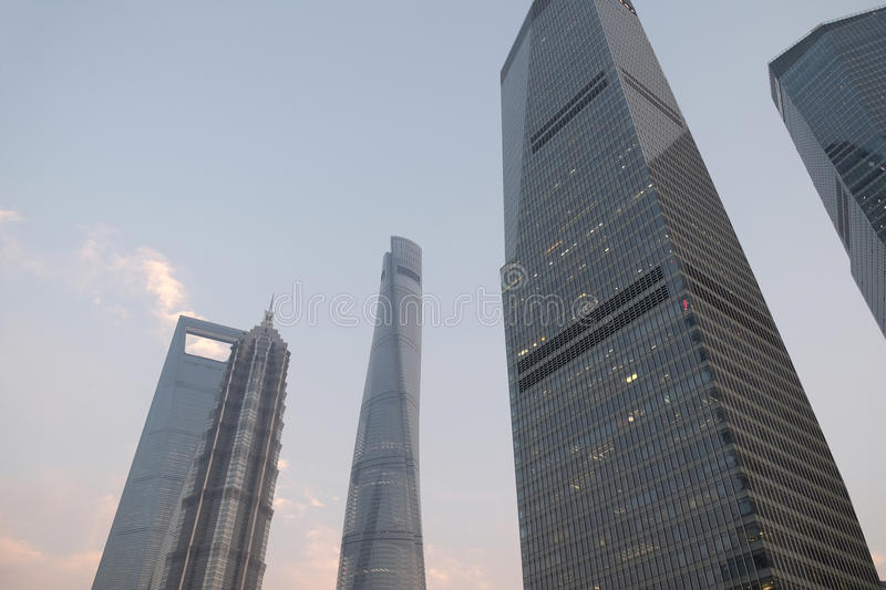 Shanghai world financial center royalty free stock images