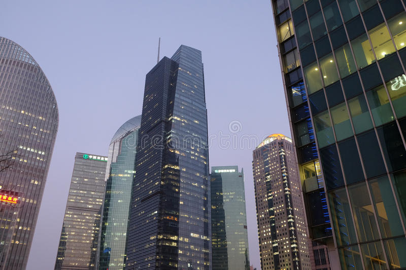 Shanghai world financial center stock photos