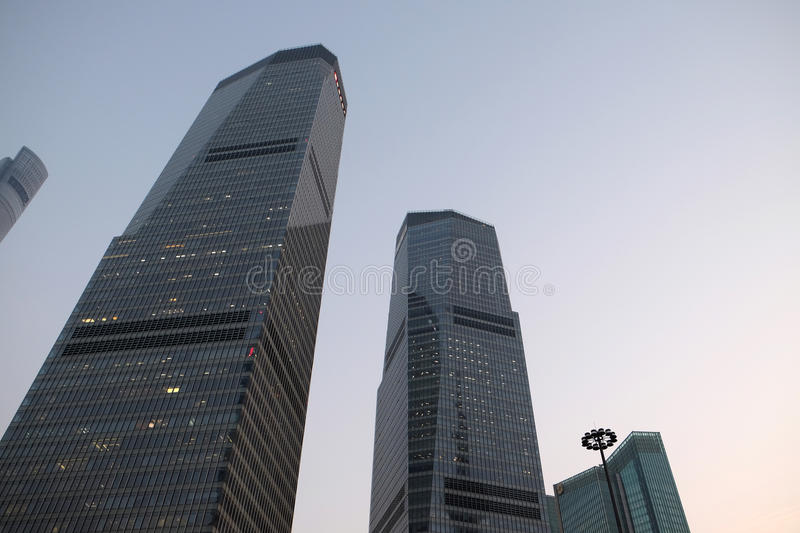 Shanghai world financial center. Skyscrapers in Lujiazui group in Shanghai, China stock photos