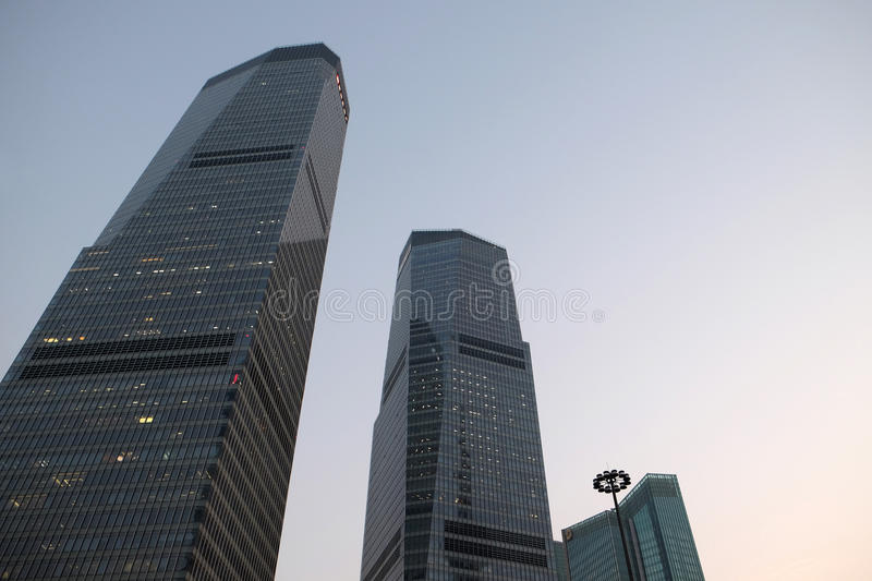 Shanghai world financial center. Skyscrapers in Lujiazui group in Shanghai, China stock image