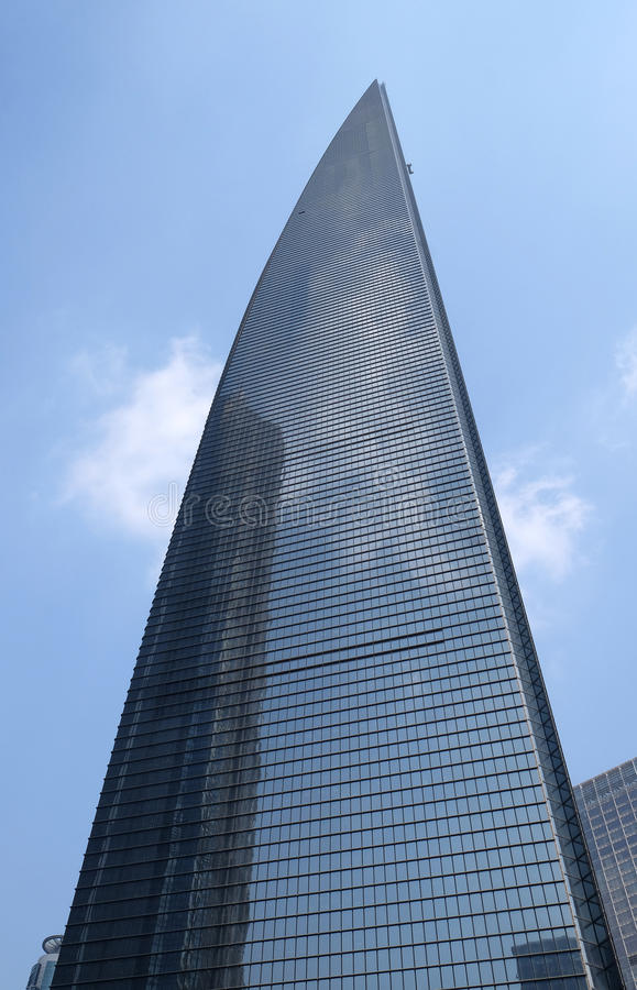 Shanghai World Financial Center SWFC. Shanghai. China is currently the second high-rise buildings, height of 492 meters and 101 floors above ground royalty free stock image