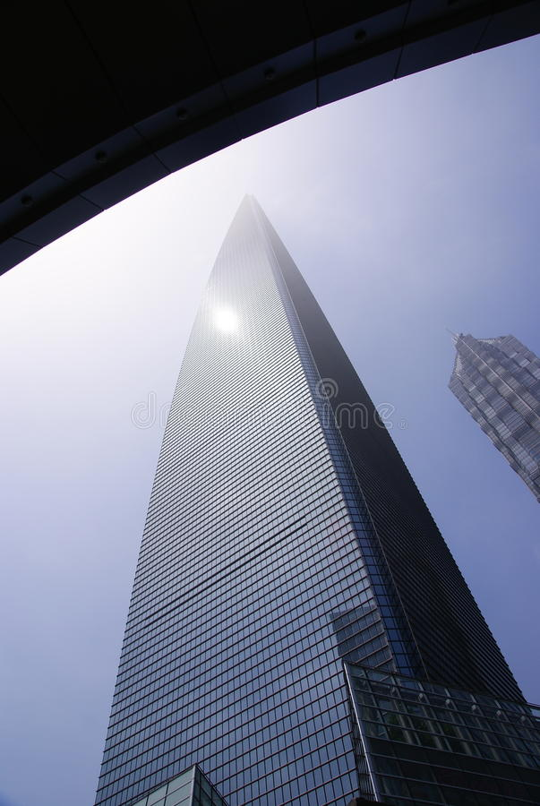 Shanghai World Financial Center. (SWFC) in lujiazui financial center stock photography