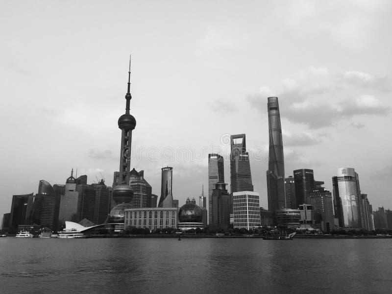 Shanghai zona financeira e de comércio de Lujiazui fotografia de stock royalty free
