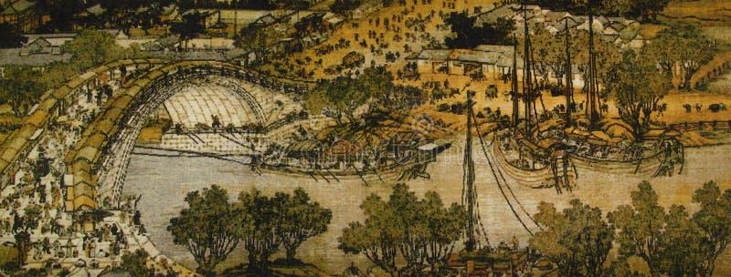 Shanghetu de Qingming ilustração stock