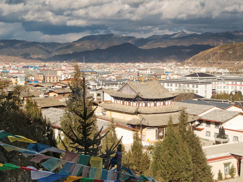 Shangri-La. Tibetan city in the province yunnan of china stock image