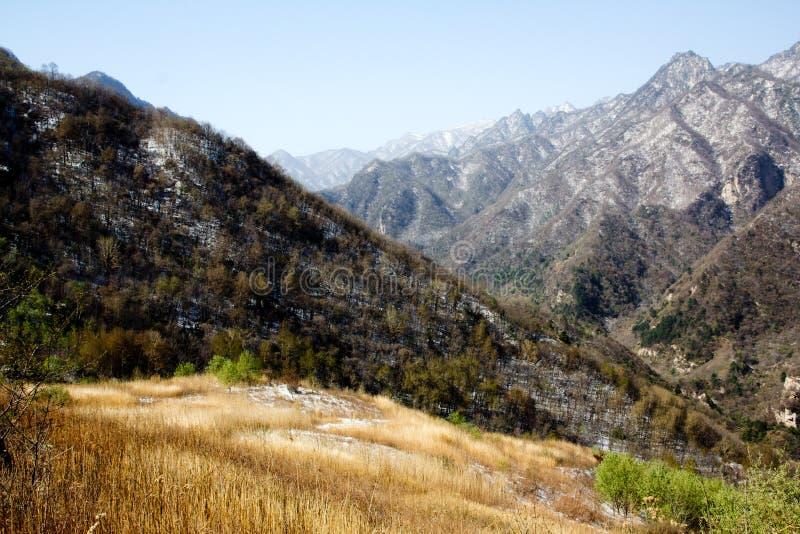Shangri-La or Arcadia in Qinling Mountains. Dasi called as Shangri-La or Arcadia by hikers,is a small village in deep Qinling Mountains (English name Tsinling royalty free stock photo