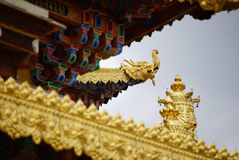 Shangri-La - das Kloster Ganden Sumtsenling stockbild