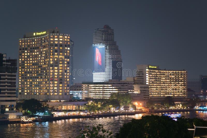 Shangri-La-Hotel Bangkok lizenzfreie stockbilder
