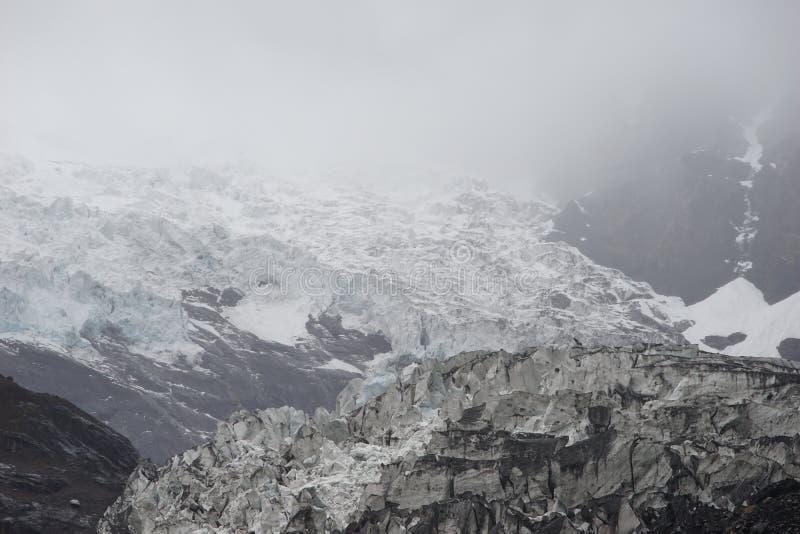 Shangri-La - Mingyong-Gletscher stockbilder