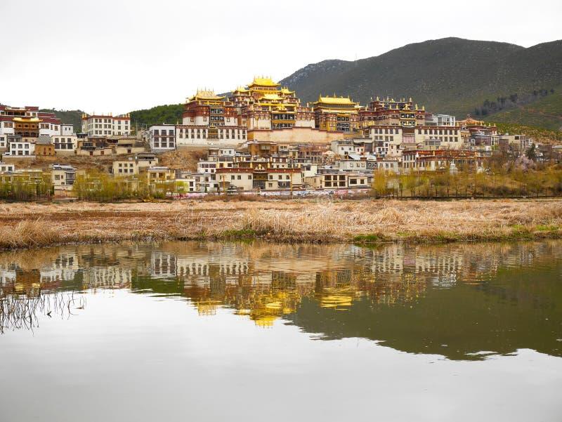 Shangri-La Monastery or Songzanlin Temple stock photo