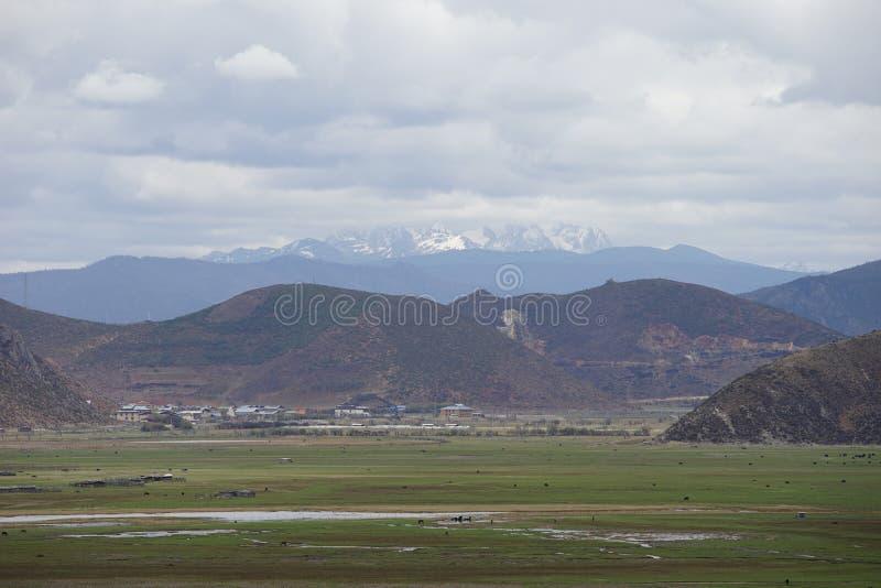 Shangri La - Napahai. Haba Snow Mountain stock photos