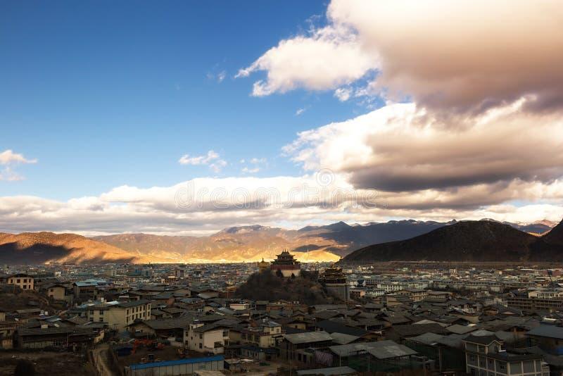 Shangri-la old town. In Yunnan, China stock photos