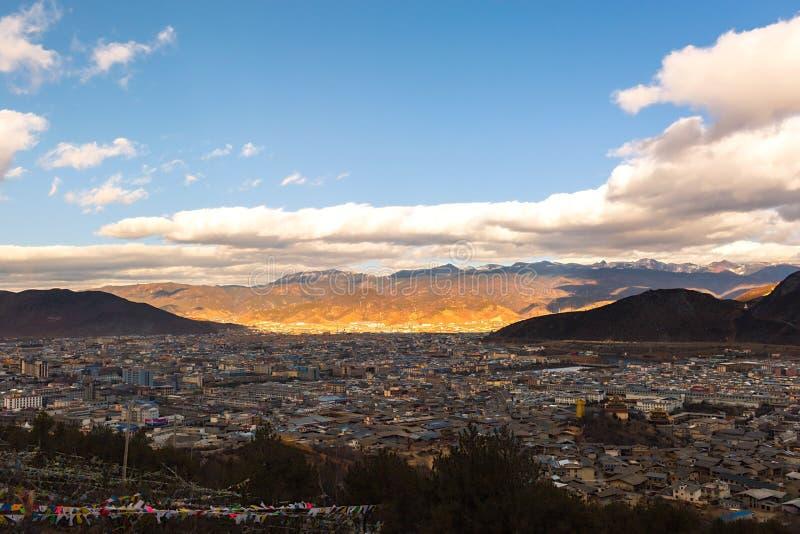 Shangri-la old town. In Yunnan, China royalty free stock photos