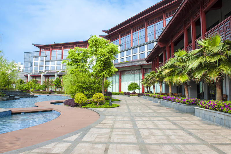Shangri-Lahotel Guilin royalty-vrije stock foto's