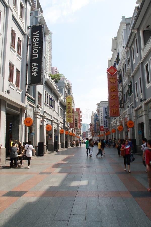 Shangxiajiu Fußgänger-Straße stockfotografie