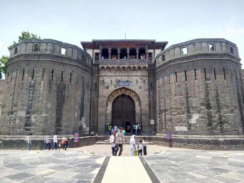 SHANIWAR WADA. Shaniwarwada is a historical fortification in the city of Pune in Maharashtra, India. Built in 1732, it was the seat of the Peshwas of the Maratha royalty free stock photography