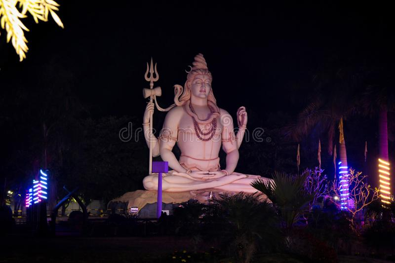 Shankar chouda, 76 feet tall statue, of mahadev. stock photography