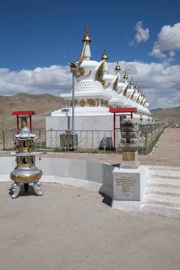 Shankh klostertempel i Mongoliet arkivbilder