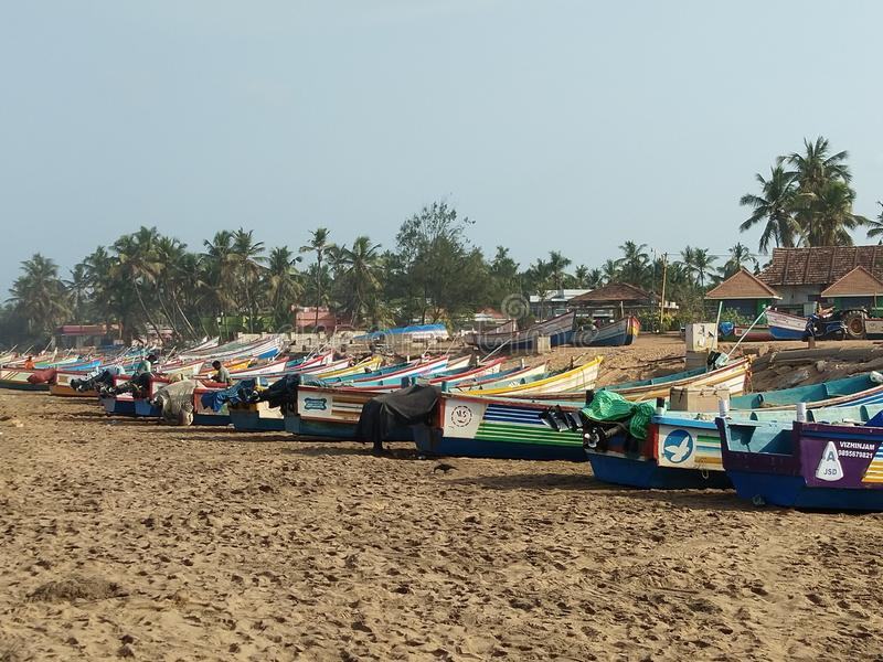 Shankumugham plaża Kerala fotografia royalty free