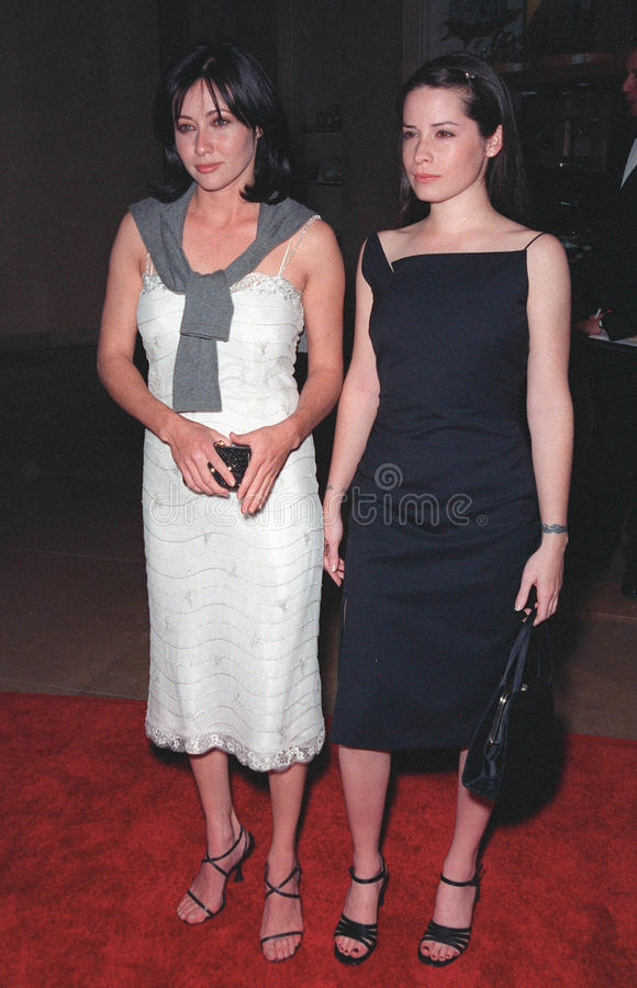 Shannen Doherty,霍莉Marie梳子 库存照片