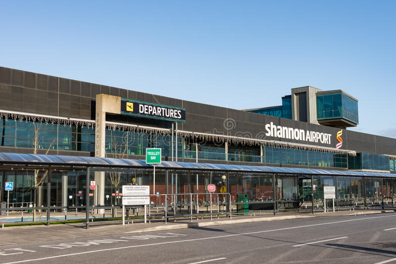 Shannon Airport, Ireland - December 27th 2016: Shannon Airport is Irelands 2nd largest airport in Ireland County Clare. royalty free stock photography