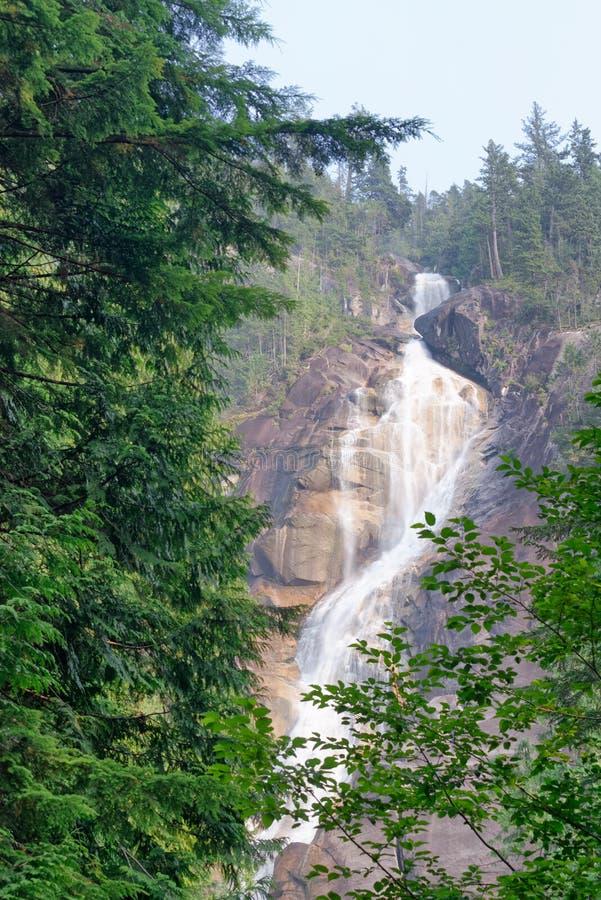 Shannon Falls Provincial Park, Squamish, Canada royalty-vrije stock afbeelding