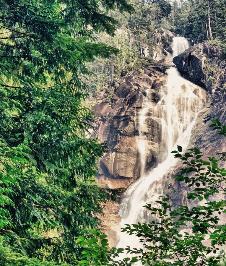 Shannon Falls Provincial Park, Squamish, Kanada stockfoto