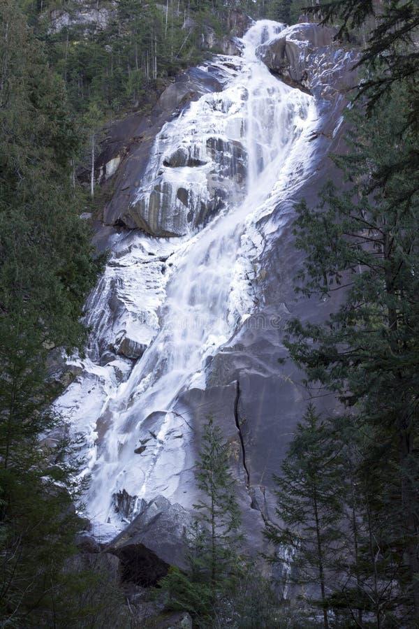 Shannon Falls Provincial Park Squamish W congelato Columbia Britannica fotografia stock libera da diritti