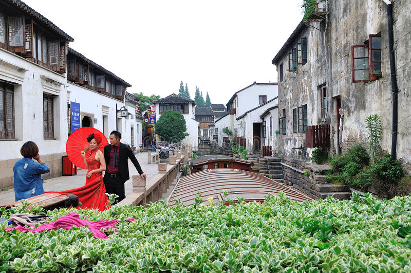 Shantang street at suzhou stock images