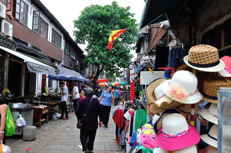 Shantang street at suzhou royalty free stock photo