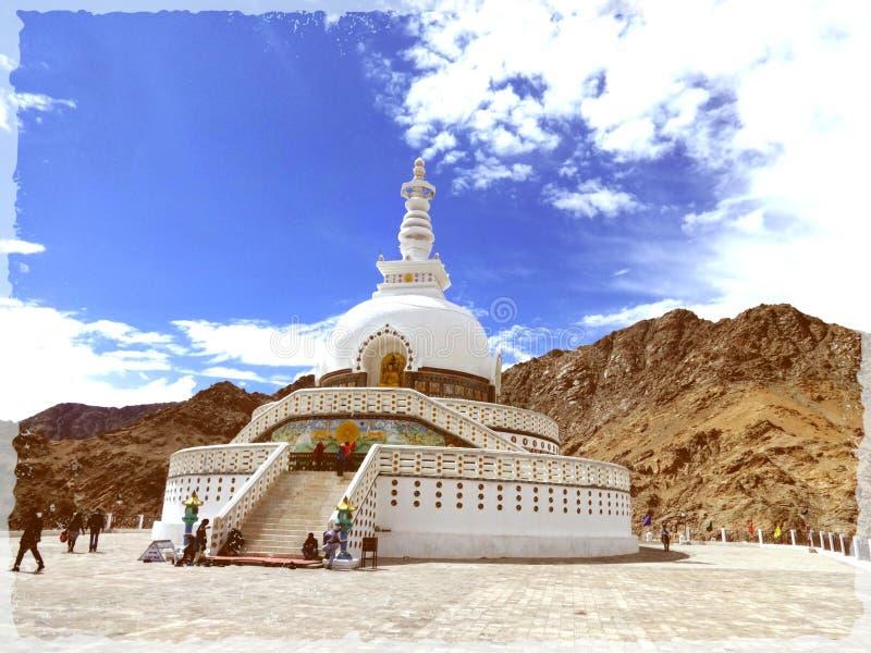 Shanti leh Stupa  库存照片