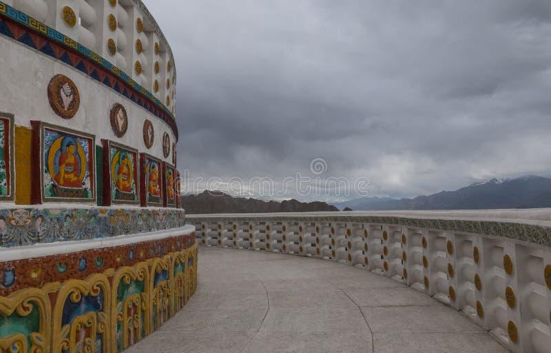 Shanti Stupa段落 免版税图库摄影