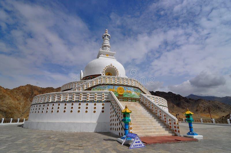 Shanti Stupa fotos de archivo libres de regalías