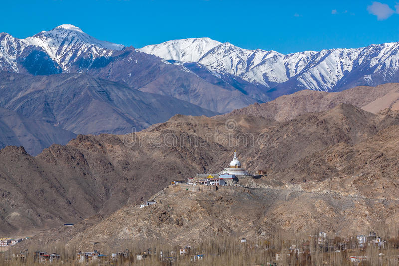 Shanti Stupa fotografia de stock royalty free