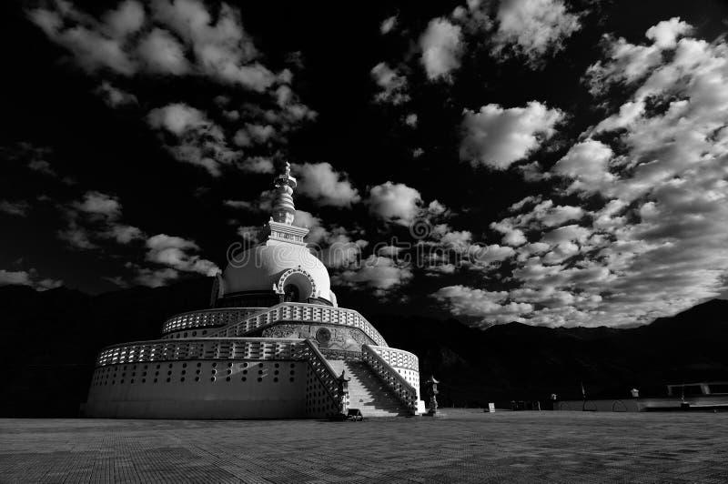 Shanti Stupa foto de stock royalty free