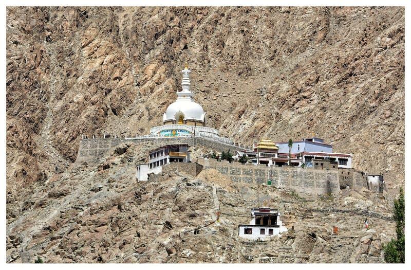 Shanti Stupa, Leh στοκ φωτογραφίες με δικαίωμα ελεύθερης χρήσης
