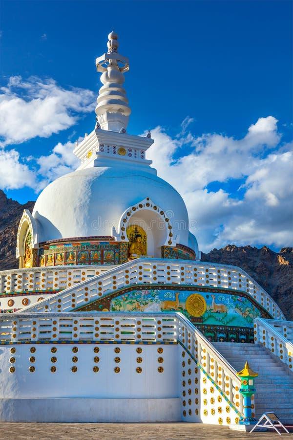 Shanti Stupa, Leh photos libres de droits