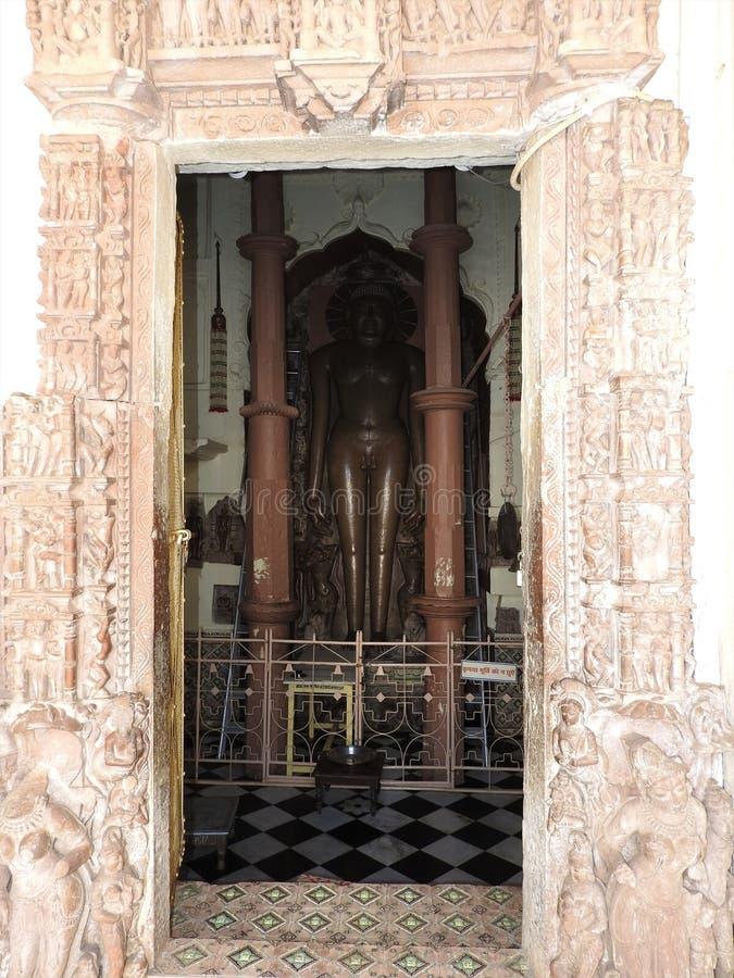 Shantinathatempel - Khajuraho-Groep Monumenten, Madhya Pradesh, India royalty-vrije stock foto's