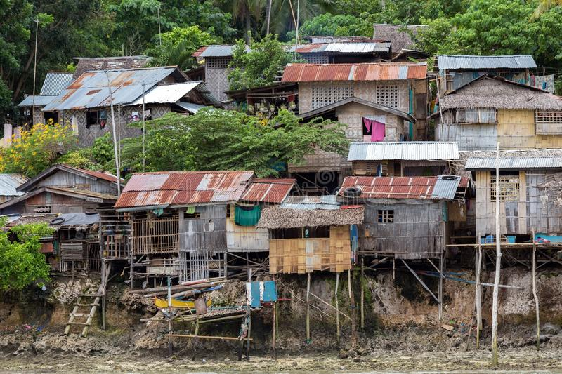 Shanty homes in Philippines royalty free stock photo