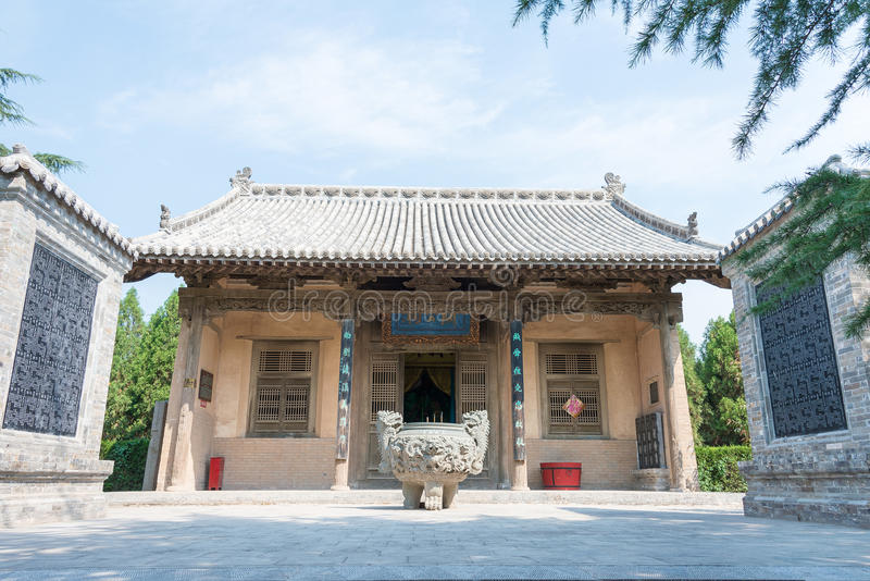 SHANXI, CHINA - Aug 23 2015: Guangong Temple(Guandi Temple) at. Emperor Shun Tomb Soenic Spot. a famous historic site in Yuncheng, Shanxi, China royalty free stock image