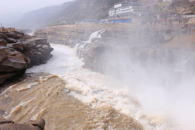 Shanxi, China - de Gele Waterval van Rivierhukou royalty-vrije stock foto