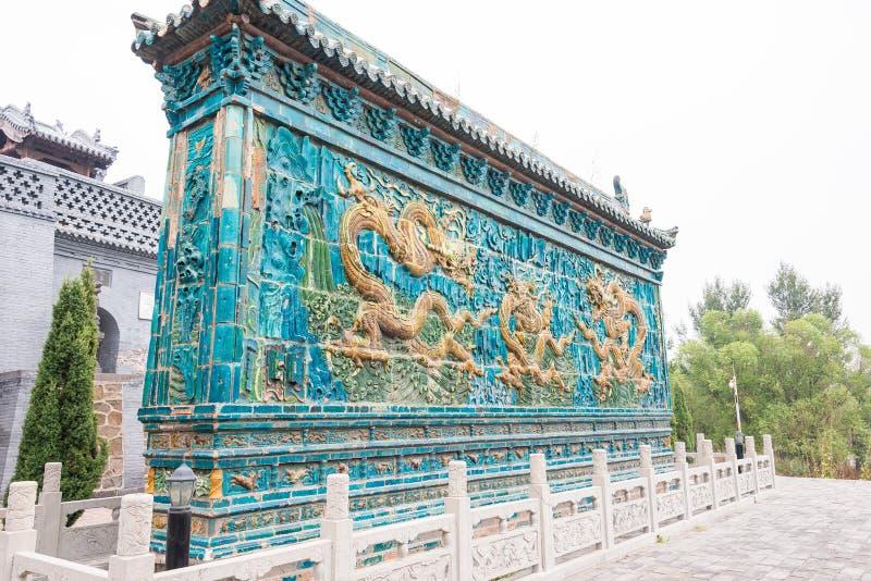 SHANXI, CHINA - Sept 17 2015: Dragon Screen no Temp de Guanyintang imagem de stock