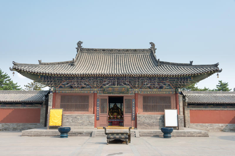 SHANXI, CHINA - Sept 21 2015: Fahua Temple. a famous historic s royalty free stock images