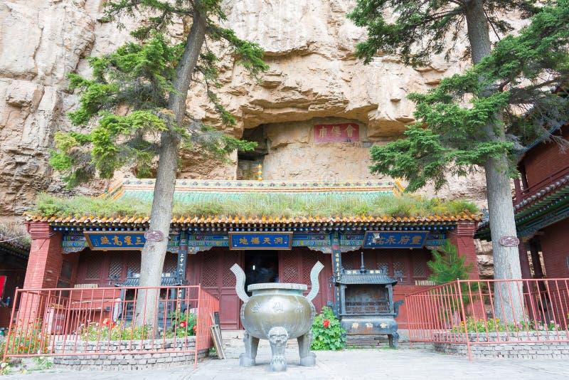 SHANXI, CHINA - Sept 19 2015: Heng Shan um local histórico famoso imagem de stock royalty free